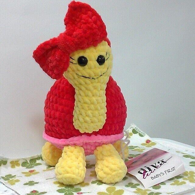 Новая вязаная Мягкая игрушка Prezzzent_ Черепашка Черепаха Hand Made