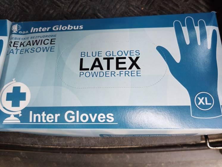 Перчатки латексные ,хозяйственные, M,L,XL,25 пар