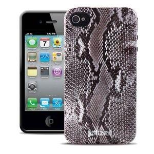 Силиконовый чехол Justcavalli Python Grey Питон Серый для IPhone 4/4s