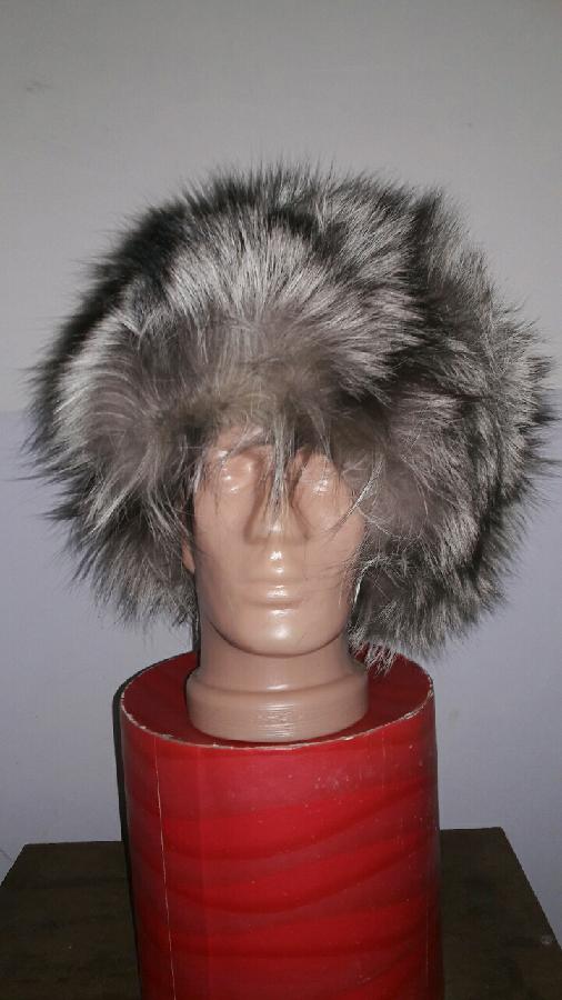Шапка из лисиго меха лиса меховая пушистая зимняя мужская 55см