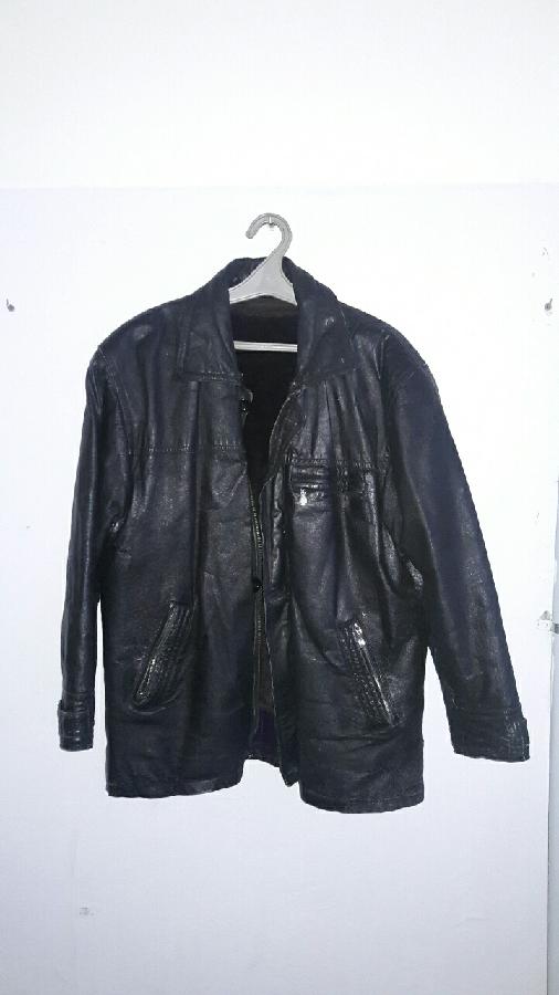 Куртка кожаная чёрная мужская зимняя с подстёжкой натуральная