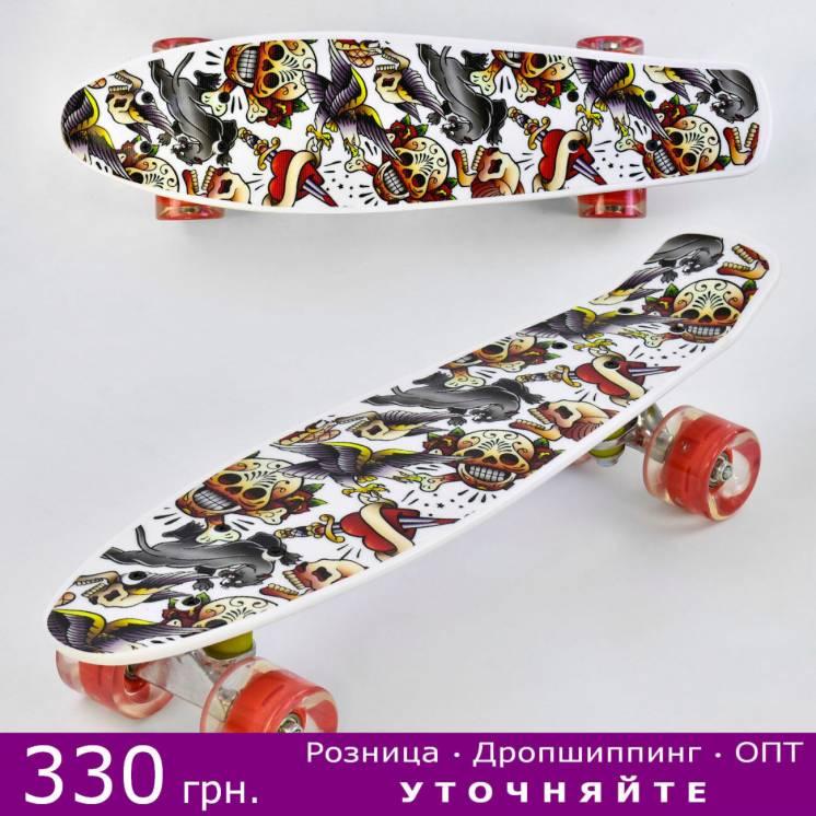 Пенни борд, скейт, Penny Board - Best Board светящиеся колеса