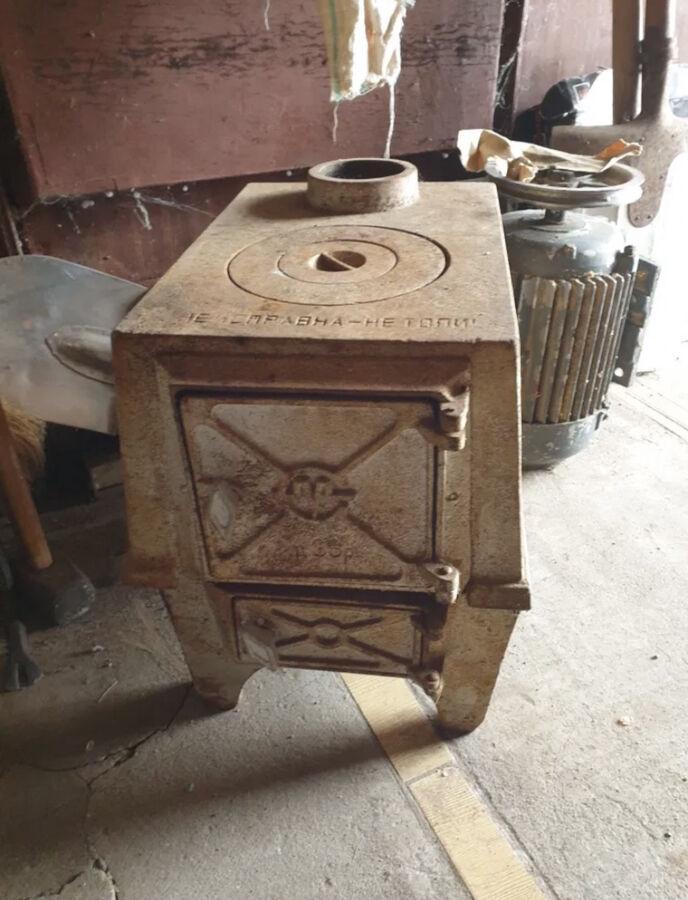 Чугунная печка Буржуйка ссср піч чавун плита камин камін булерьян