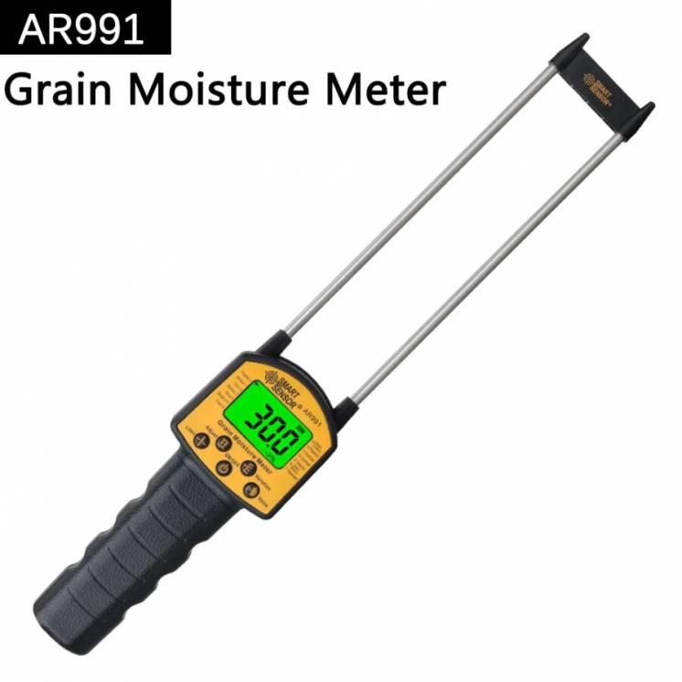 Цифровий вологомір AR991, вимірювач вологості зерна та сипучих речовин