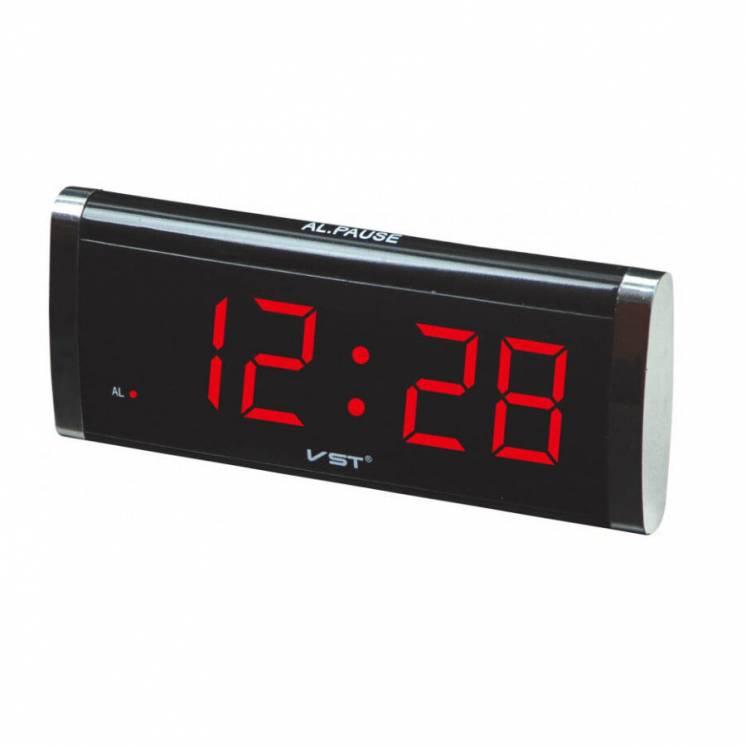Мережевий годинник 730-1 червоні цифри 220V настольные сетевые часы