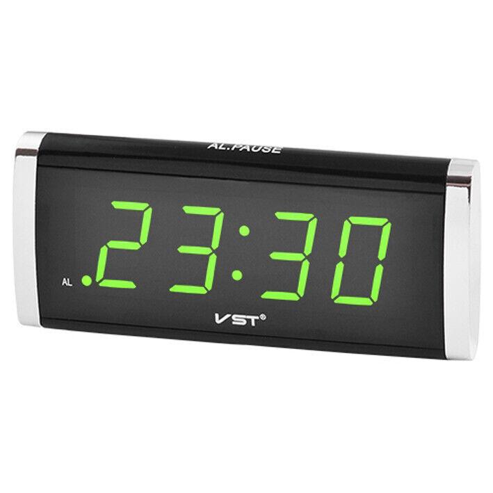 Мережевий годинник 730-4 салатові цифри 220V настольные сетевые часы