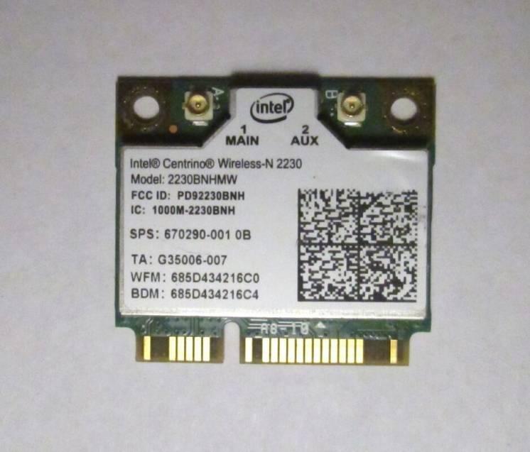 Wi-Fi модуль быстрый 300 Мбит/с +BT Half mini PCI-E Intel 2230BNHMW