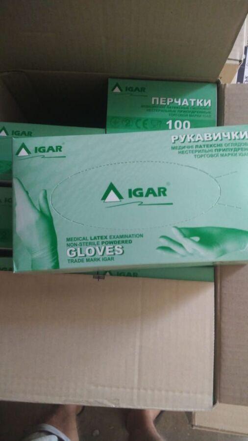 Перчатки IGAR латексные