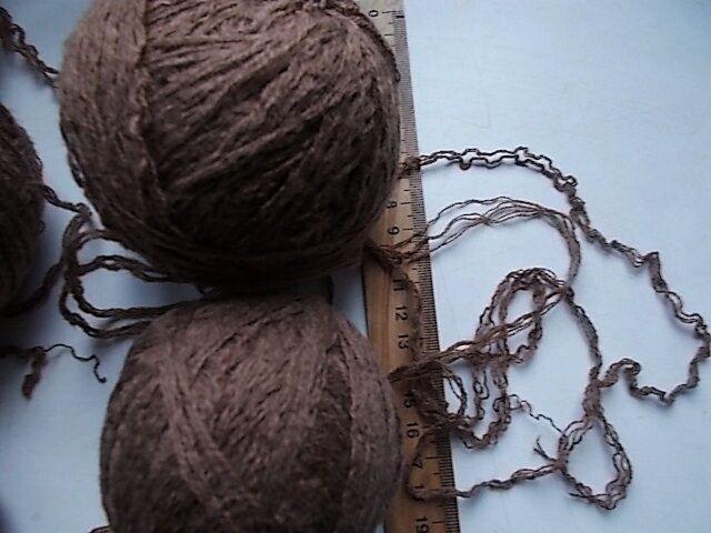 Пряжа нитки коричневого шоколадного цвета вес ~ 280 грамм For Hand Mad