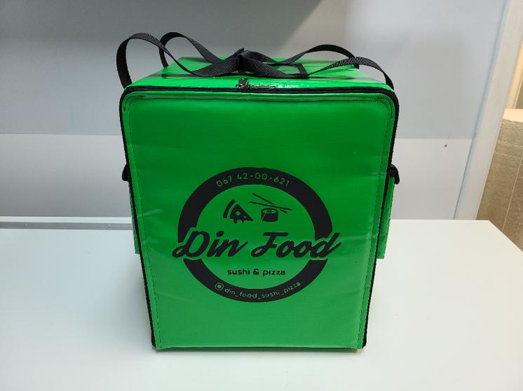 Терморюкзак для доставки еды велокурьером