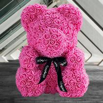 В подарок любимым*Мишка из 3 D роз*Букет ручной работы*Экологичный