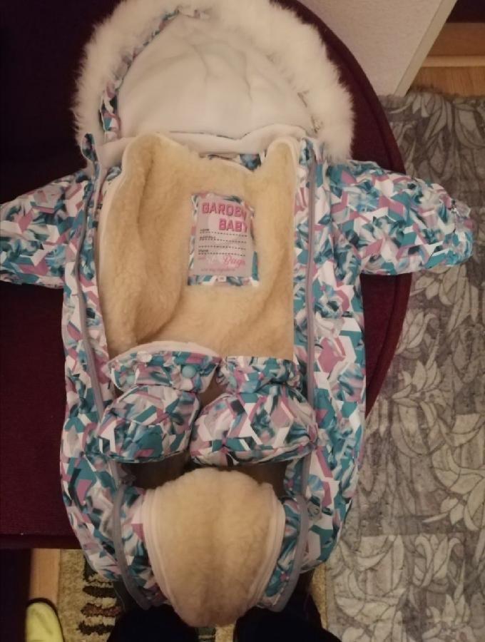 Детский Комбинезон 2в1 (конверт-человечек) на овчине