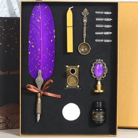 Подарочный набор для письма Винтажная перьевая ручка подарок сургуч