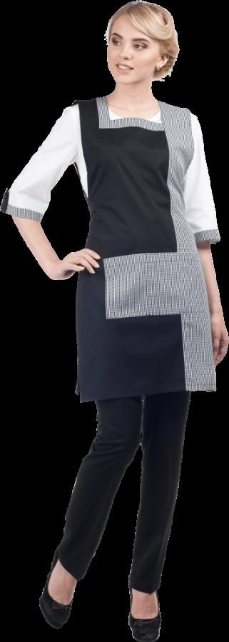 Костюм клининга модель Мэри фартук. брюки, блузка