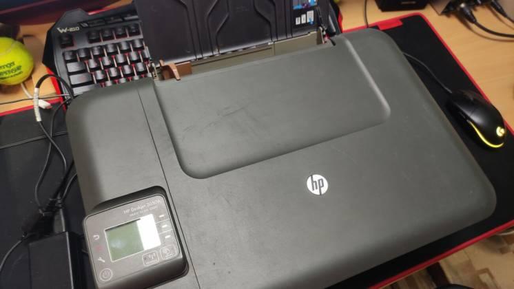 Принтер МФУ офисник HP Deskjet 3050A J611+500шт. А4 и сетевой кабель