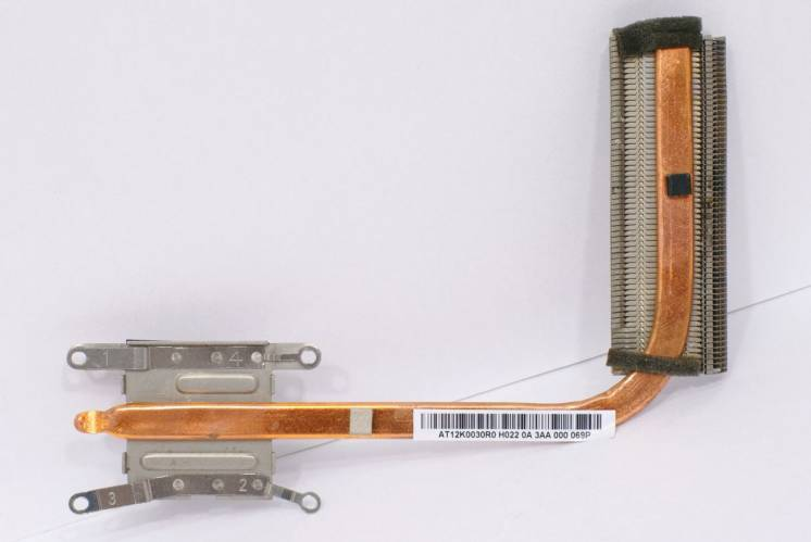 Радиатор Термотрубка Охлаждение Acer Aspire E1-532 E1-572 AT12K0030R0