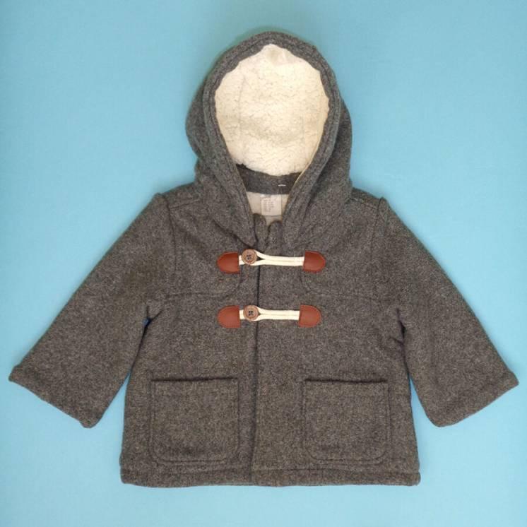 H and M пальто для малыша 6-9 мес 74 см. детская куртка демисезон