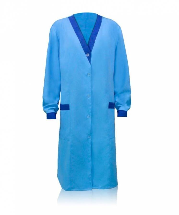 Женский халат рабочий ткань габардин