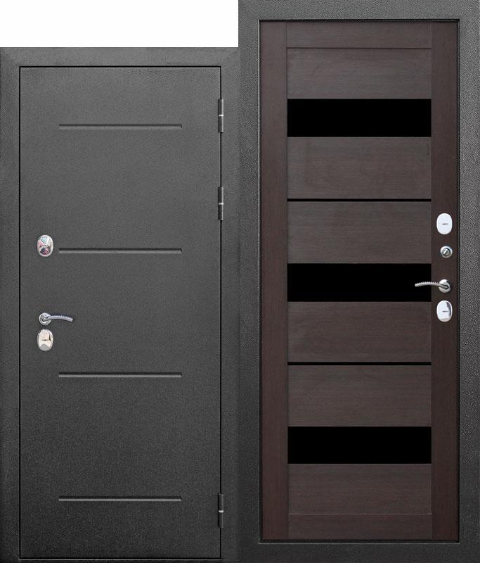 Вхідні двері ISOTERMA 125 мм Срібло/Листвениця беж, Темний кипарис