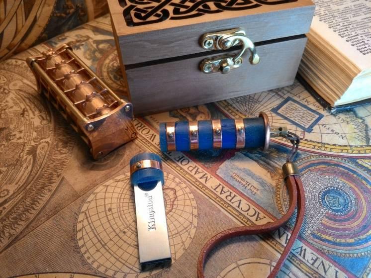 Флешка Криптекс стимпанк, ручной работы, подарок, USB Flash