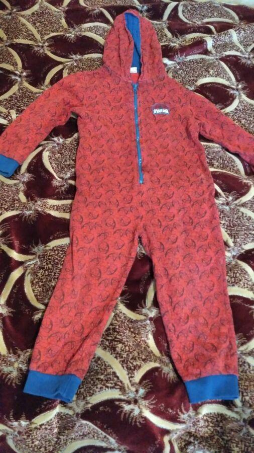 Пижама человечек, 5-6 лет, 110-116 см