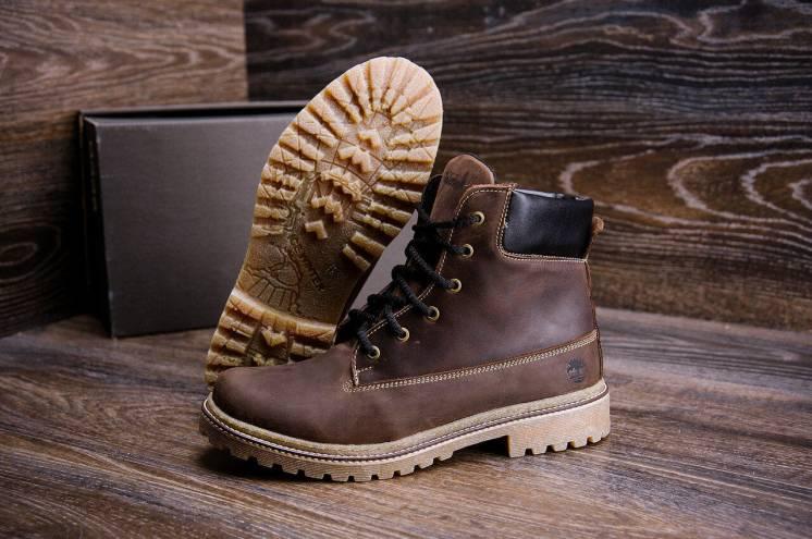 Мужские зимние кожаные ботинки Timberle