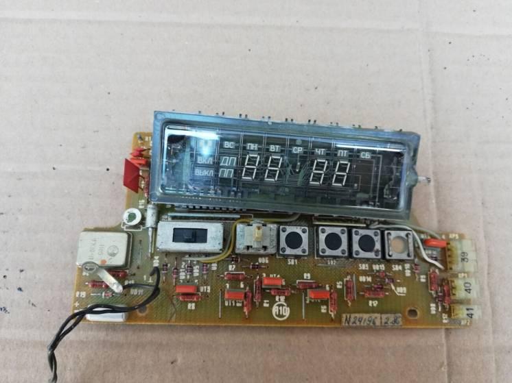 Плата дисплей индикатор видеомагнитофона Электроника вм12 часы Электро