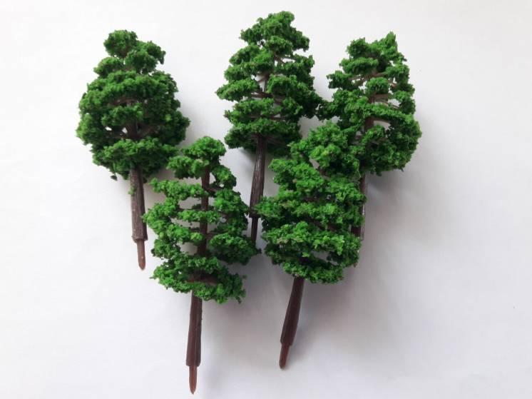 Деревья для макета 5шт / железная дорога Piko,Roco H0 (1:87)