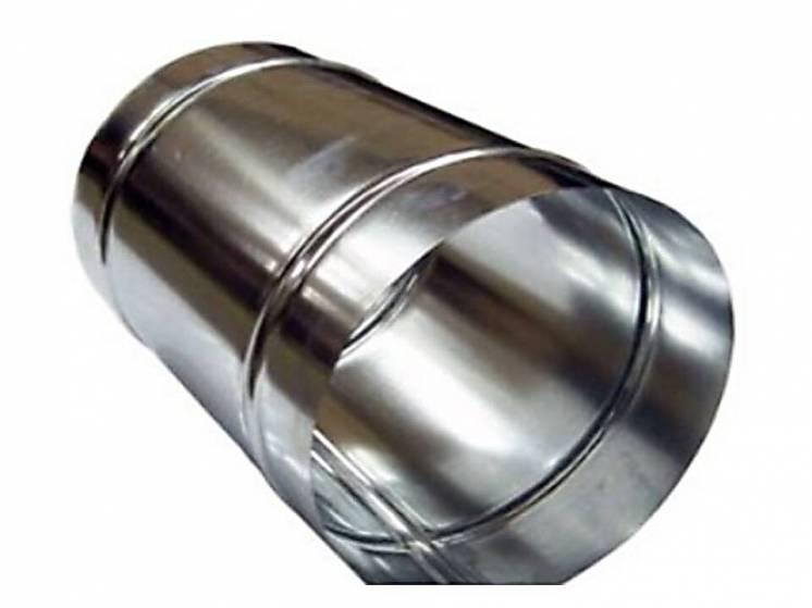 Труба 1м , нержавейка 0,5 мм,диаметр 100 мм. дымоход