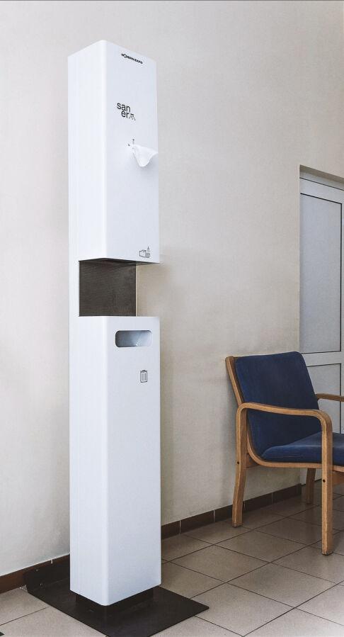 Автоматическая станция дезинфекции рук Saner (санитайзер)