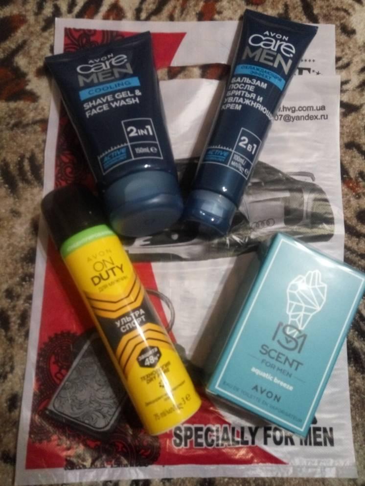 Мужской подарочный парфюмерный набор 4шт Avon туалетная вода гель