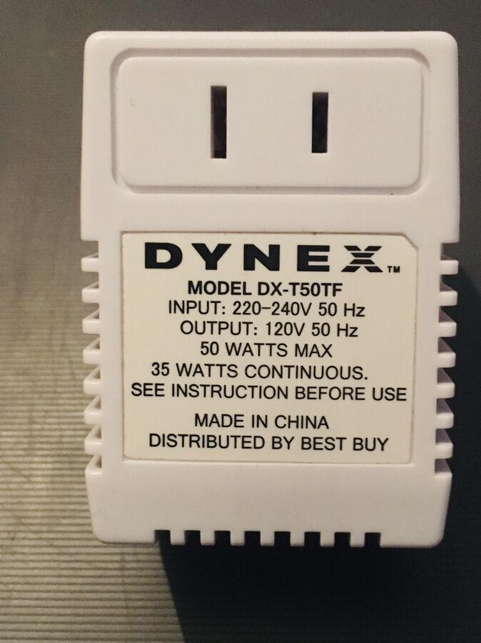 Трансформатор 220-110 вольт DYNEX DX-T50TF international travel 50W