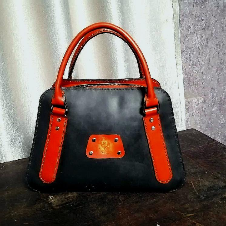 Женская кожаная сумка, ручная работа