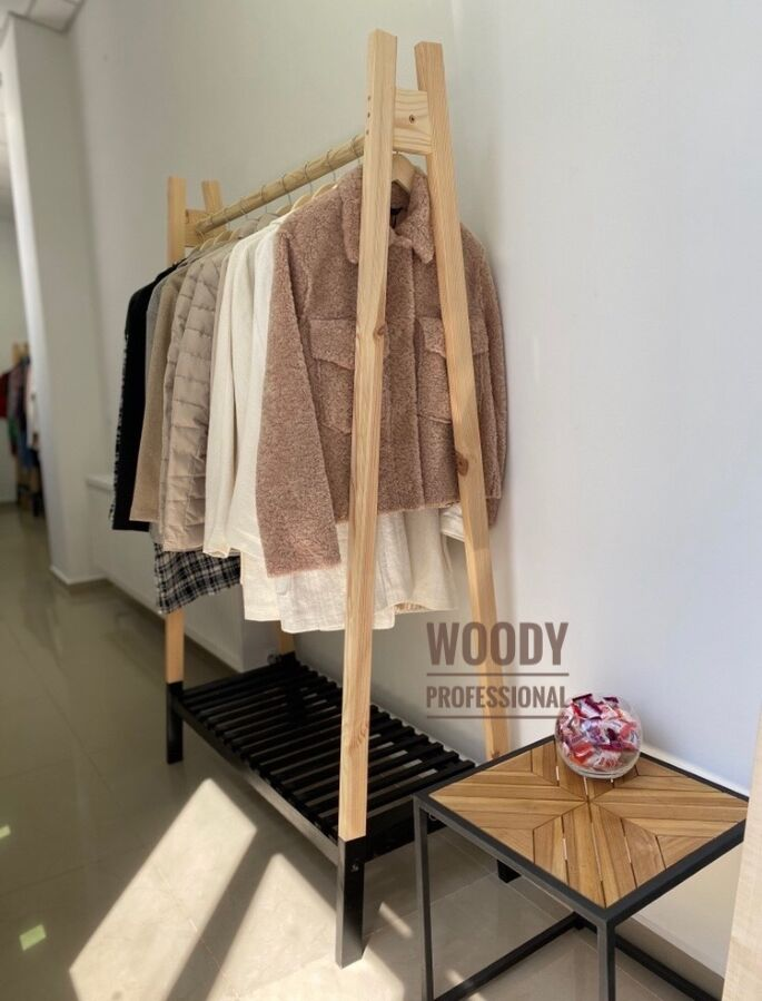 Напольная вешалка для одежды/ открытый гардероб/ рейл