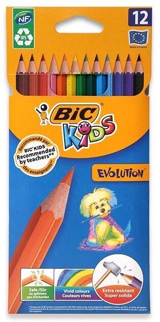 Продам олівці кольорові BIC Evolution 12 кольорів