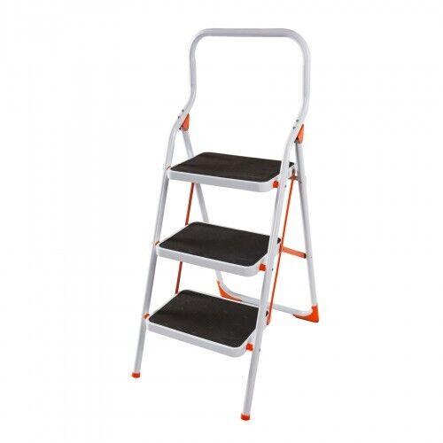 Стремянка стальная Laddermaster Intercrus S1В3. 3 ступеньки