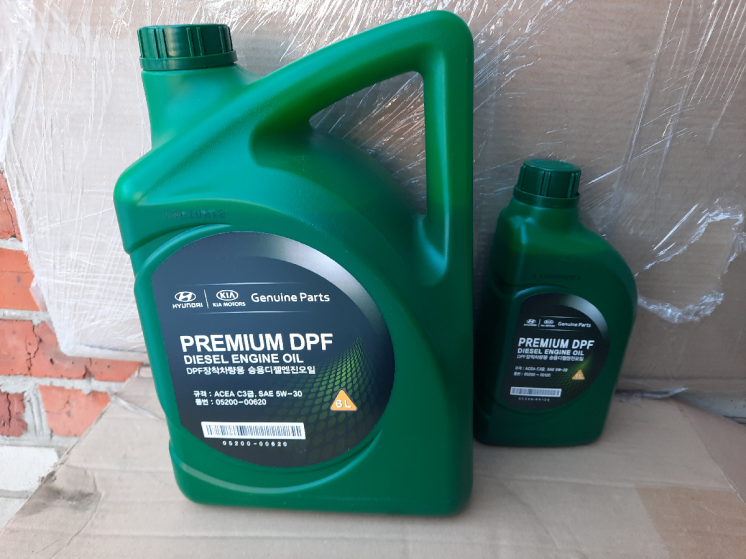 Масло моторне Mobis Premium DPF Diesel 5W-30 ACEA C3, 05200-00620 6л