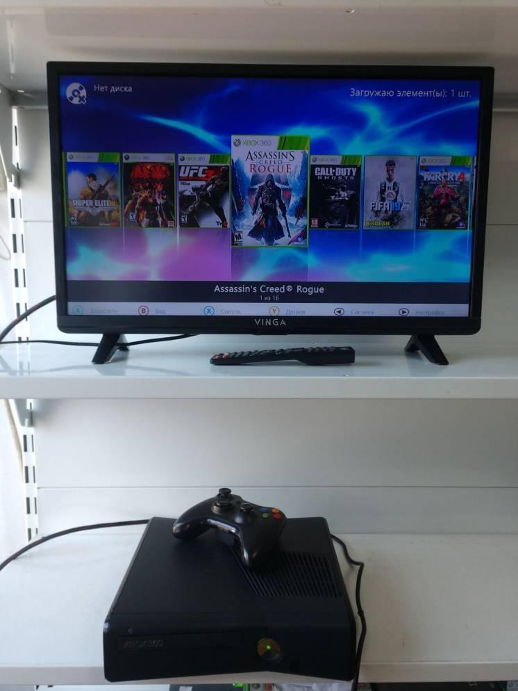 Игровая приставка Xbox 360 Slim, FreeBoot, матовая, на 120ГБ