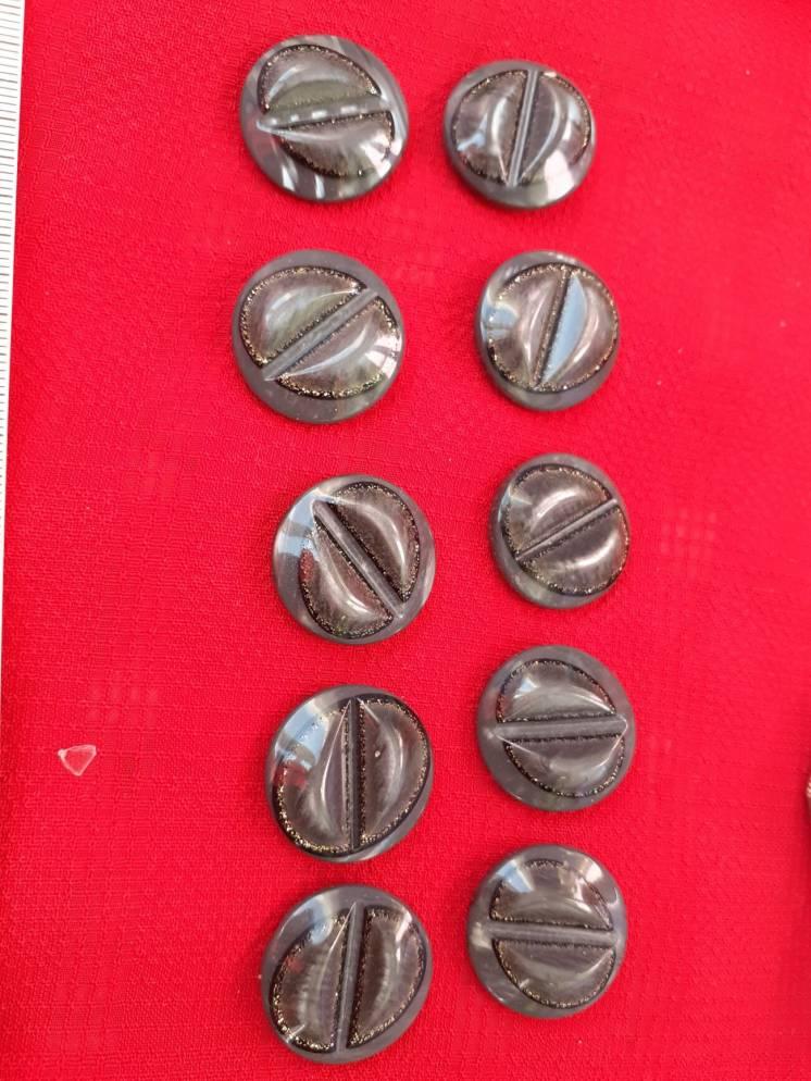 новые пуговицы-набор 10 шт.винтаж