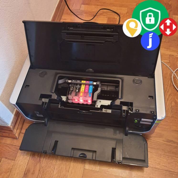 Струйный цветной принтер Canon Pixma ip4500 фото лаборатория