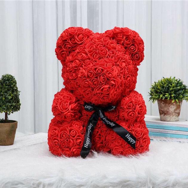 Лучший подарок любимой девушке. Мишка из роз!