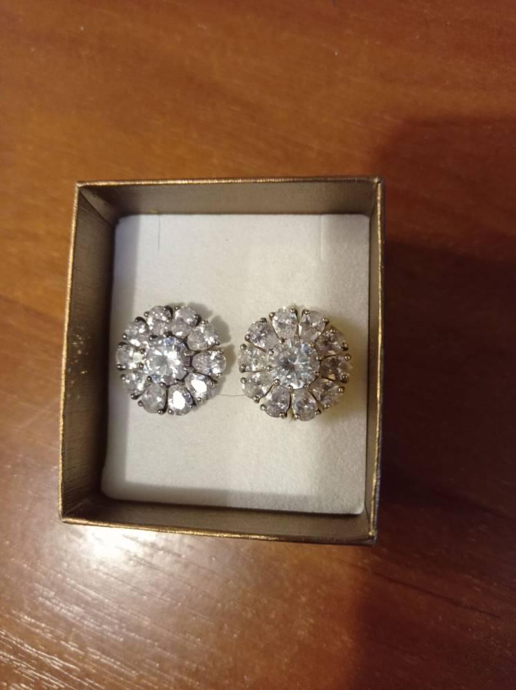 Красивые серьги серебро