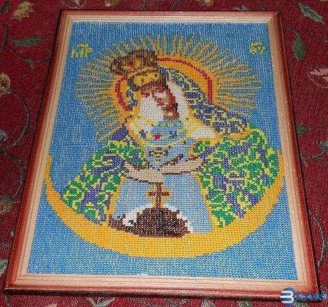Вышитая икона Острабрамская