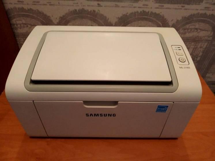 Принтер лазерный Samsung ML-2165 Новый картридж Отличный