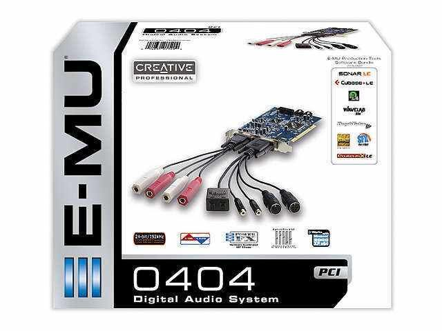 Профессиональная Звуковая Карта E-MU 0404 PCI MIDI интерфейс