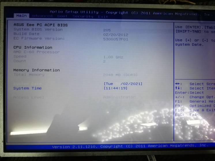 Ноутбук Asus Eee PC 1225B на запчасти. Разборка Asus 1225B