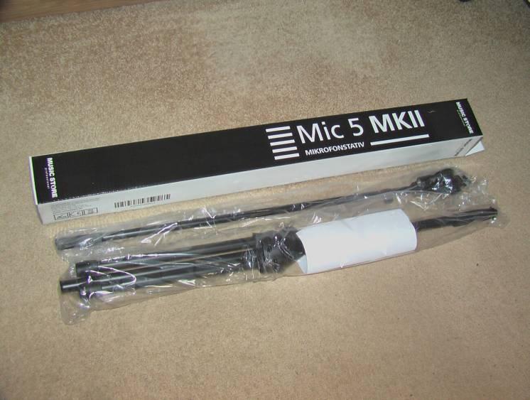 Стойка для микрофона MUSIC STORE MIC-5. Новая. Из Германии.