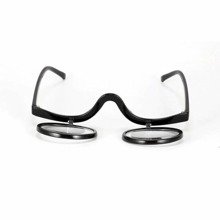 Очки для нанесения макияжа с диоптриями ( две линзы )
