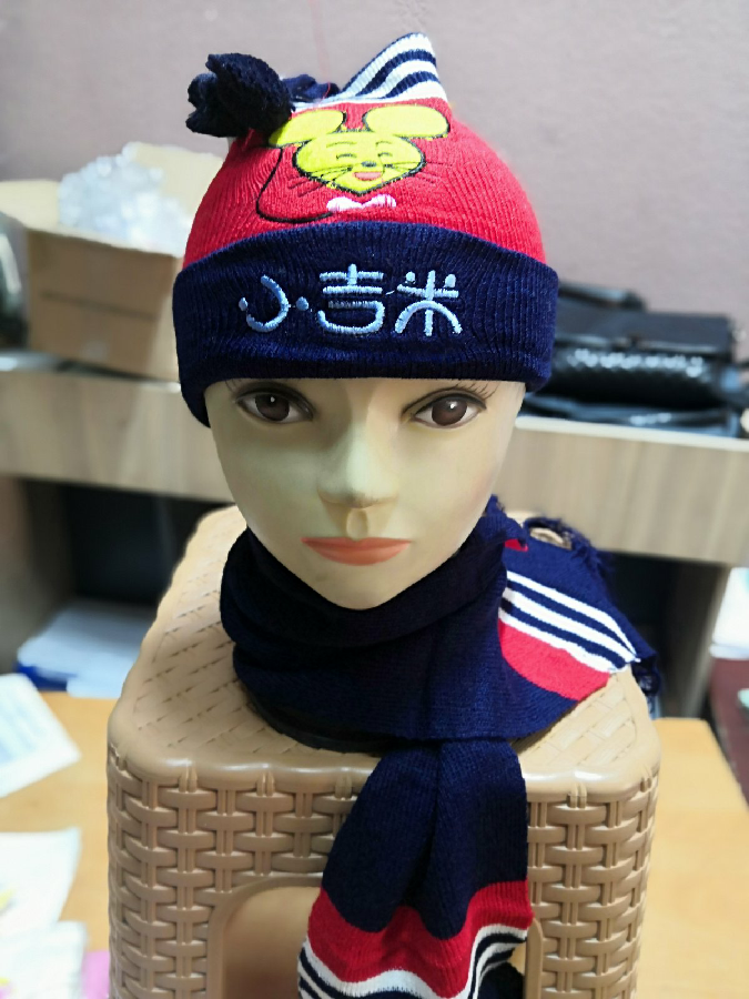 детский комплект шапка и шарф весенний дорого яКитай