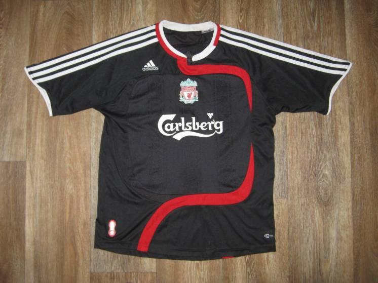 Футболка adidas-climacool FC Liverpool, подростковая 10-12 лет. Черная